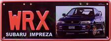 WRX Subaru Impreza Novelty Number Plate
