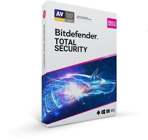 BITDEFENDER TOTAL SECURITY 2021 - 5 DEVICE 4 YEAR FOR WINDOWS, MAC, ANDROID, iOS