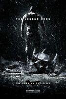 "DARK KNIGHT RISES 2012 Teaser Version B DS 2 Sided 27X40"" Batman Movie Poster"