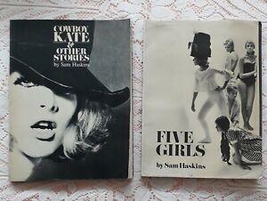 2 SAM HASKINS 1960'S PHOTOGRAPHY BOOKS COWBOY KATE & FIVE GIRLS