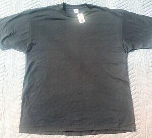Jerzees Vintage Blank Black 50/50 Soft Thin T-Shirt USA Made Men's XXL 2X NOS