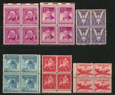 KStamps Lot C237  ( 6 ) Misc Blocks of 4 Stamps  MNH OG