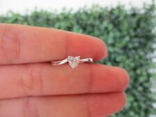 .36 Carat Heart Shaped Diamond White Gold Engagement Ring 18k ER259 sep *