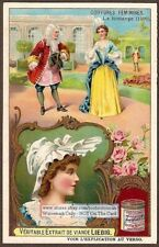 1700s French Womens Hair Hat BEAUTIFUL c1970 Trade Ad Card