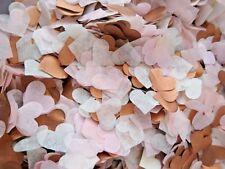 3500 Wedding Confetti Tissue Paper Hearts FILL 4 CONES ROSE GOLD/COPPER PINK