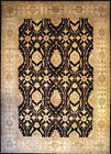 Hand-knotted Rug (Carpet) 10'2X14'3, Agra mint condition