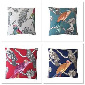 Iliv Aviary Birds Parrots Handmade Cotton Decorative cushion cover