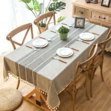 Nordic Style Cotton Linen Embroidered Tablecloth Table Cloth Cover Table Decor L