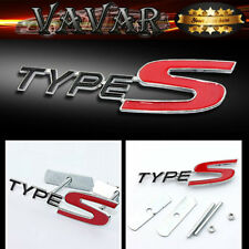 RED typeS Logo 3D Metal Racing Front Hood Car Grille Grill Badge Emblem New