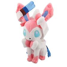 Anime Pocket Monster Sylveon Stuffed Pikachu Doll Pokemon White Plush Kid Toy
