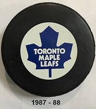 TORONTO MAPLE LEAFS Small Logo Ziegler Official Trench Game Hockey Puck 1987-88