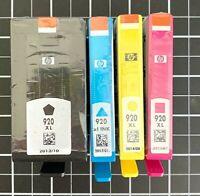 NEW HP 920XL Black 920XL Cyan/Magenta/Yellow Ink Cartridges, 4 Pack CH650BN