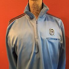 Late 90s / Early 2000s OLD NAVY Men's Pullover Track Jacket- 1/4 Zip neck- LARGE