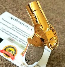 24k Gold Plated Metal Cohiba Lighter Quad Flame 4 Jet Turbo Cigar Punch Gas 24ct