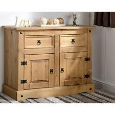 Corona 2 Door 2 Drawer Sideboard Distressed Waxed Pine Cabinet Vintage Retro
