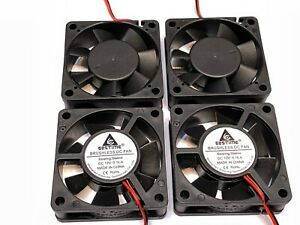 4 Pieces Gdstime DC 12V 2Pin 6020 60x60x20mm 60mm PC 6cm Case Cooling Fan A44