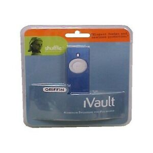 Griffin Technology iVault Ipod Shuffle Skin; Choose Silver, Blue, or Purple, NIP
