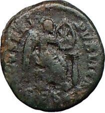 AELIA FLACILLA 379AD Rare Ancient Roman Coin VICTORY CHI-RHO Christ i25061