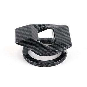 Car Engine Start Stop Push Button Cap Switch Cover Decorative Carbon Fiber Look
