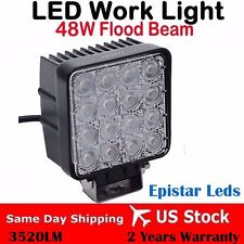 48W LED work flood square Light 12V 24V Off road Truck 4x4 Boat SUV lamp