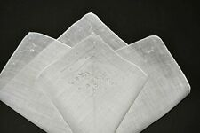vintage wedding handkerchief Something Old embroidery Hand Rolled Edge bows