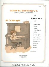 Amr Publishing ~ Manuals * Books * Accessories ~ for Jukeboxes ~ Catalog No. 14