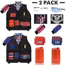 [2 Pack 2020 Newest] DoitY Kids Tactical Vest Kit for Nerf Guns N-Strike Elite S
