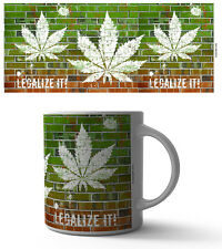 LEGALIZE IT 11 OZ COFFEE MUG TEA CUP BUD SMOKE WEED BLUNT JOINT CBD HEMP REEFER!