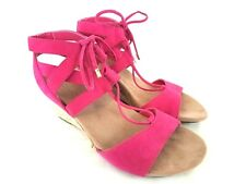 Vionic Women's 385 Noble Tansy Wedge Sandals Pink NWOB US 7.5 EUR 38.5 T167