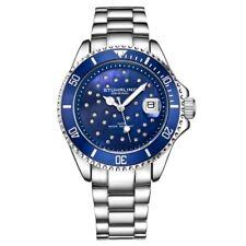 Stuhrling Original 3977 3 Quartz Crystal Accented Date Bracelet Womens Watch