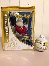 "Pokémon 20th Anniversary 8"" Darkrai Plush & 2"" Darkrai Poké Ball GameStop Ex"
