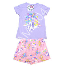 My Little Pony Girls PJ Set T-Shirt Tee Top and Shorts Size 4 New