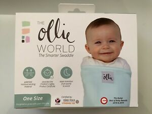New in box, Ollie Swaddle Sky Blue (Laundry Bag, Care Cards)