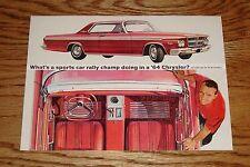 Original 1964 Chrysler Scott Harvey Rally Car Champ Brochure Postcard 64