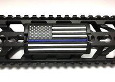Blue Line Flag, Stars Left - Grip PVC Custom Rail Cover - KeyLok/KeyMod/M-LOK
