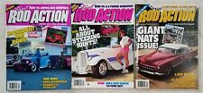 Street Rod Action Magazine 1990 - Lot of 3 -  Hot Rods & Customs