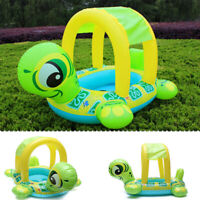 Baby Kids Float Seat Tortoise Boat Inflatable Swim Ring Pool Water Fun Sunshade
