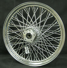 """Ultima Chrome 80 Spoke 19"""" x 2.5"""" Front Wheel for Harley Softail FXDWG 84'-99'"""