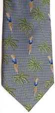 "Tango Men's Wildlife Novelty Silk Tie 59.5"" X 4"" Parrots & Palm Trees"