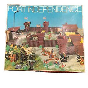 Vintage Big Fort Independence Playset Cowboys West Germany