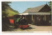 Train Of Talyllyn Railway At Abergynolwyn Station 1970s Postcard 986b