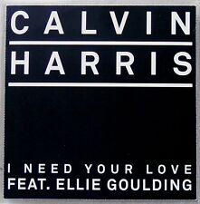 CALVIN HARRIS ft ELLIE GOULDING * I NEED YOUR LOVE * UK 5 TRK PROMO * HTF!