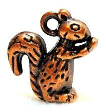 10Pcs. Tibetan Antique Copper 3D Squirrel Detailed Charms Pendant Findings An045