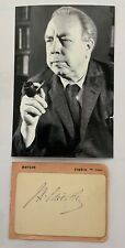 More details for j. b. priestley. genuine handsigned signature +printed photograph 6 x 4.