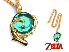 CIONDOLO THE LEGEND OF ZELDA NECKLACE LINK COSPLAY KOKIRI SPIRITUAL STONE #2