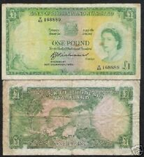 RHODESIA & NYASALAND 1 POUND P21 1960 QUEEN LEOPARD RARE AFRICA CURRENCY MONEY