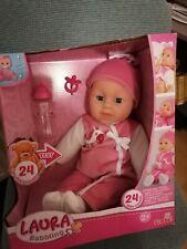 Simba 105140488 - Laura Babbling / Baby Babypuppe Mit 24 Baby Sounds 38cm - Neu