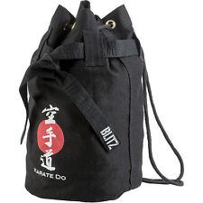 Duffel BAG Sack Canvas Black Karate Do Bag WKF Budo Karatedo Okinawan kobudō Shotokan Ryu