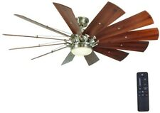 60 In Large Led Ceiling Fan Brushed Nickel 12 WindMill Blade Home Decorators New