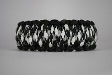 550 Paracord Survival Bracelet King Cobra Black/White/Harmony Camping Tactical